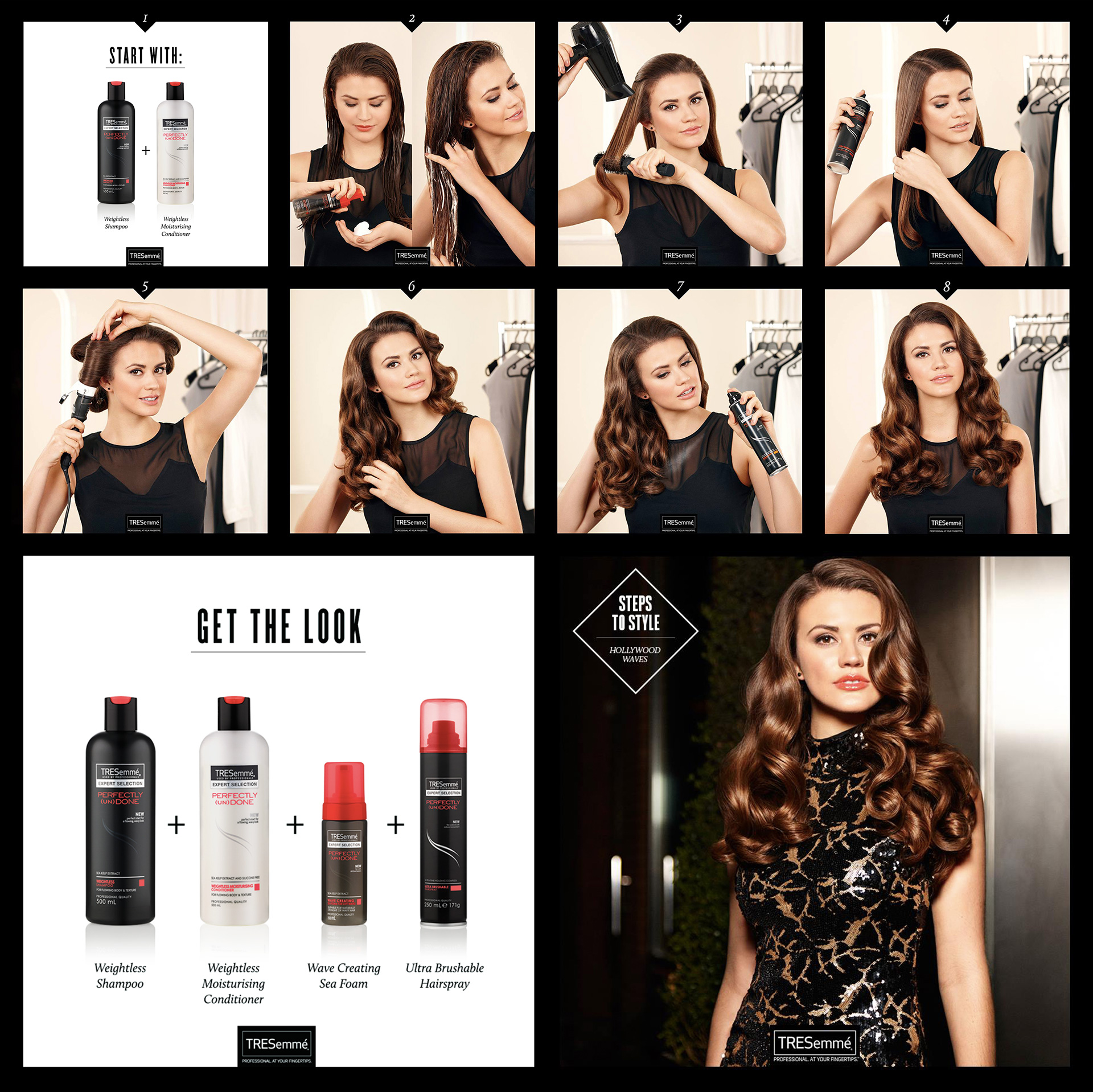 Tresemme styling grid