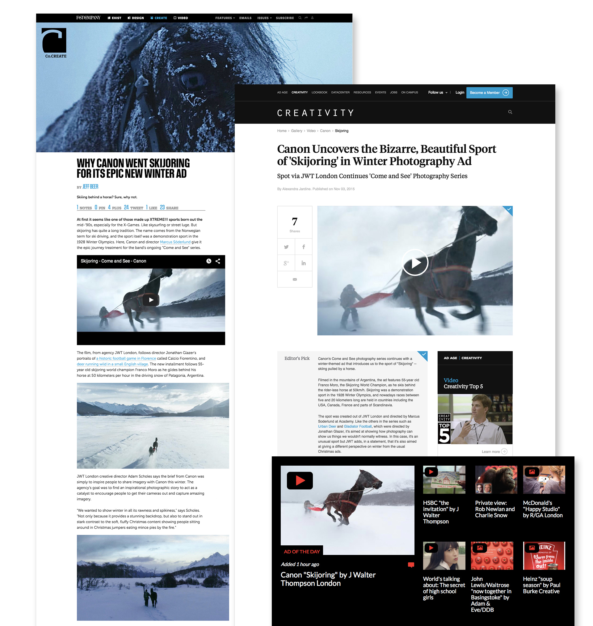 Skijoring in the press
