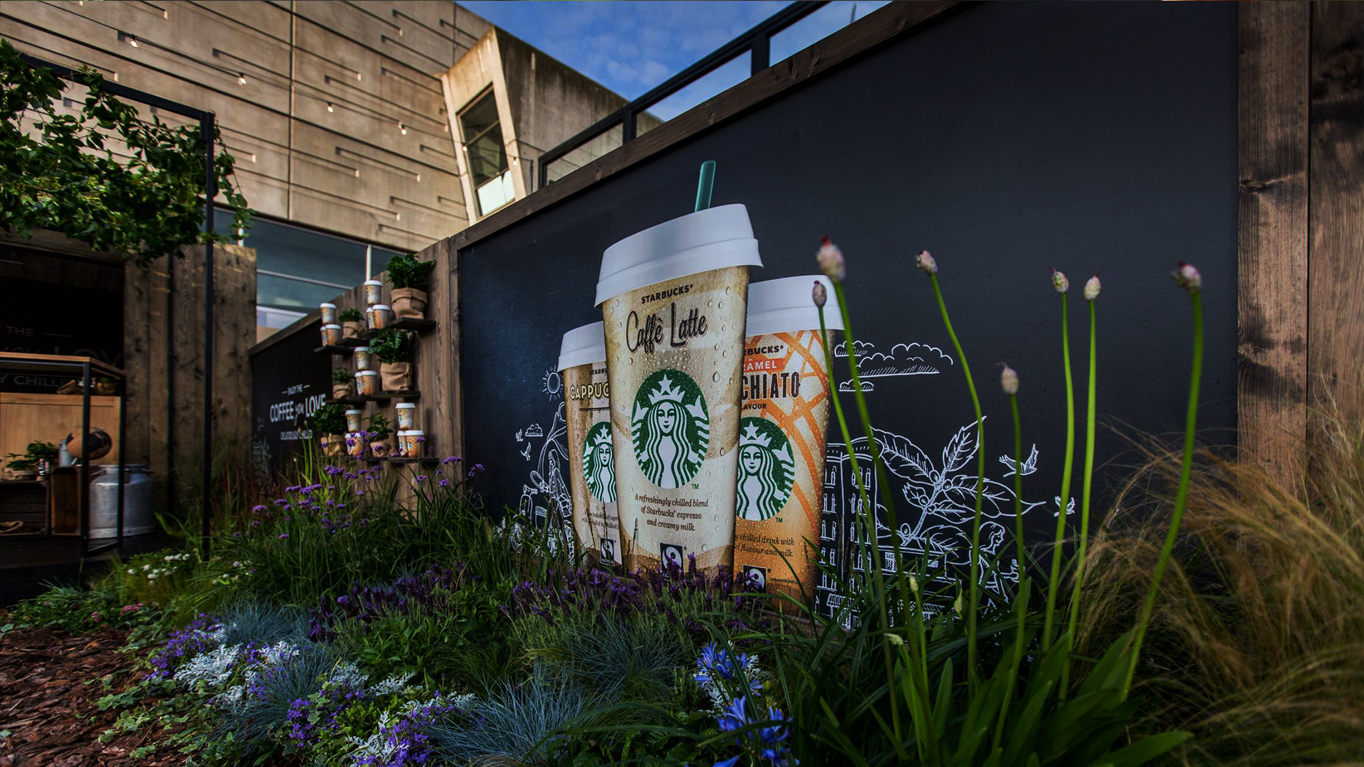 Starbucks Garden Footer